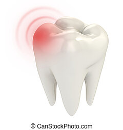 toothache 3d concept illustration