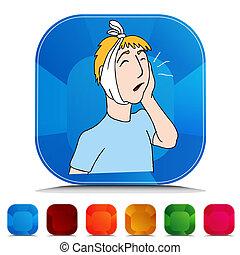 Toothache Gemstone Button Set
