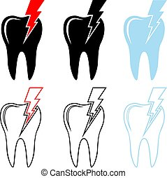 Toothache Icon - Tooth Icon, Pain in Tooth Vector ...