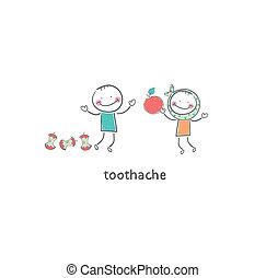 Toothache. Illustration.