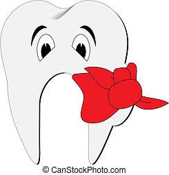 Toothache symbol vector