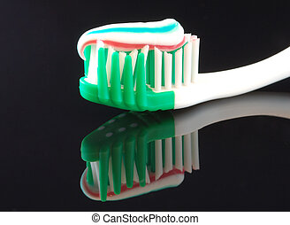 Toothbrush and paste -