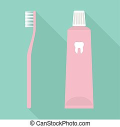 Toothbrush and Toothpaste Pink