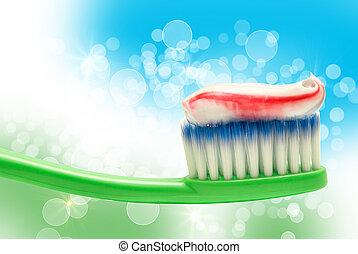 Toothbrush - Close up of toothbrush