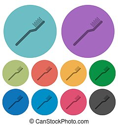 Toothbrush color darker flat icons