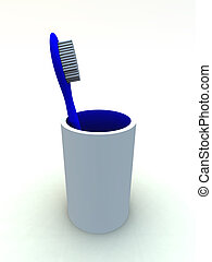 Toothbrush - An image of a toothbrush for oral hygiene.
