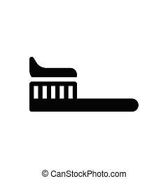 toothbrush  glyph flat icon