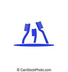 Toothbrush logo design template