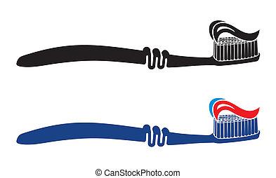 Toothbrush set vector illustration
