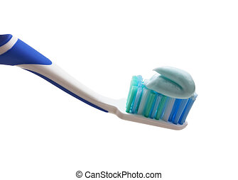 toothbrush with toothpaste squeezed out