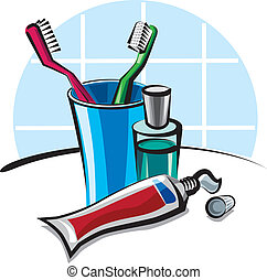 toothbrushes, en, tandpasta