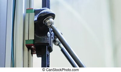 Toothed driven gear lever in robotic equipment - Toothed...