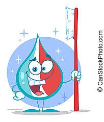 Toothpaste Cartoon Character