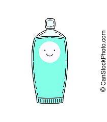 Toothpaste cartoon doodle illustration