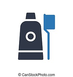 toothpaste glyph color icon