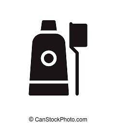 toothpaste glyph flat icon