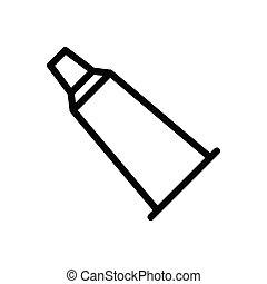 toothpaste  thin line icon