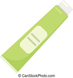 Toothpaste tube icon, flat style - Toothpaste tube icon....