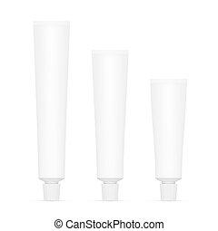 Toothpaste Tube Isolated On White Background - Set Of...