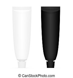 Toothpaste Tube Issolated On White Background. EPS10 Vector