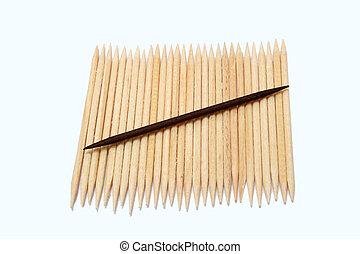 Digital photo of toothpicks.