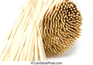 Toothpick isolated on white background
