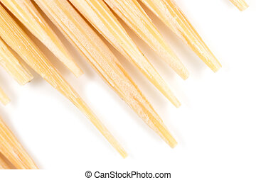toothpick on a white background. macro