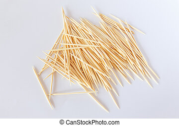 Toothpick on a white background