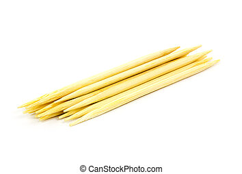 toothpick on white background, isolated