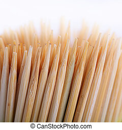 toothpicks isolated on white background