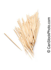 Toothpicks isolated on white