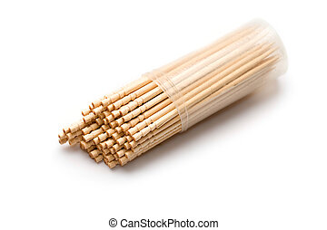 Toothpicks isolated on white