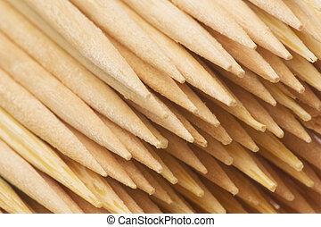 Toothpicks Macro Isolated