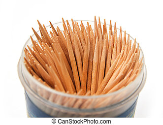 toothpicks on a white background