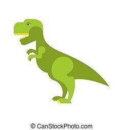 toothy, reptile, ancien, jurassique, effrayant, predator., grand, fâché, dinosaur., vert, mal, t-rex, dinosaure, préhistorique, tyrannosaurus., animal., period.