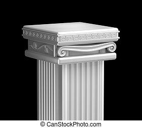 top., 기둥, 구식의