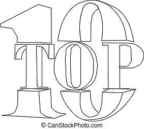 Top 10. 3D concept
