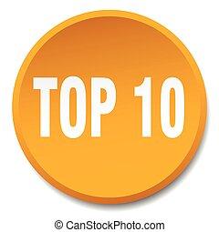 top 10 orange round flat isolated push button