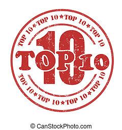 Top 10 stamp