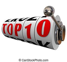 Top 10 Ten Slot Machine Wheels Dials Rating Review Best...
