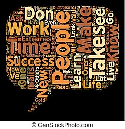 Top 10 Traits of Highly Successful People text background wordcloud concept