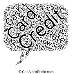 Top 10 Ways To Save Money On Credit Cards text background wordcloud concept
