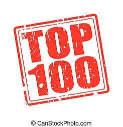 TOP 100 red stamp text