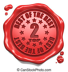 Top 2 in Charts - Stamp on Red Wax Seal.
