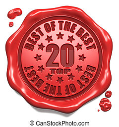 Top 20 in Charts - Stamp on Red Wax Seal.