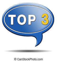 top, 3, ikon