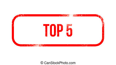top 5 - red grunge rubber, stamp