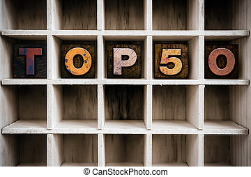 Top 50 Concept Wooden Letterpress Type in Drawer