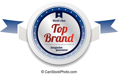 top brand product sale and quality label sticker