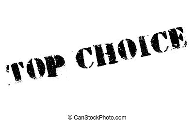 Top Choice rubber stamp